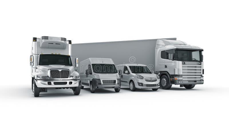 Conceito mundial do transporte de carga rendição 3d ilustração stock