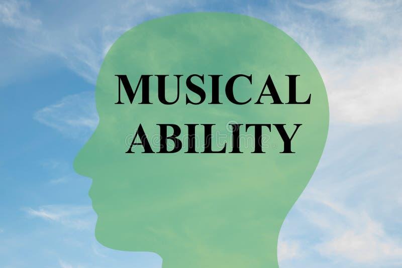 Conceito musical da capacidade ilustração do vetor
