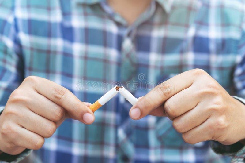 Conceito não fumadores de fumo da campanha do dia do mundo foto de stock
