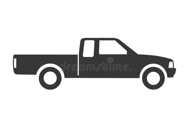 Conceito na moda do ícone do camionete no fundo branco ilustração royalty free