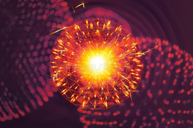 Conceito Nano do modelo do illusttration da ciência da física fotos de stock royalty free