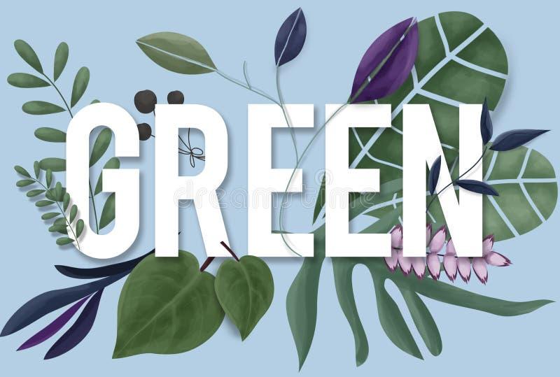 Conceito natural do crescimento da terra verde do ambiente da natureza ilustração royalty free