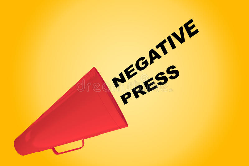 Conceito negativo da imprensa ilustração do vetor
