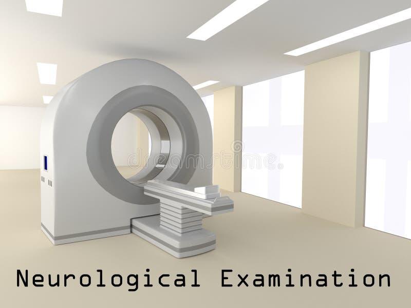 Conceito neurológico do exame ilustração stock