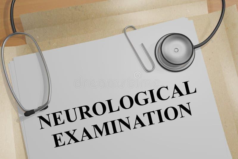 Conceito neurol?gico do exame ilustração do vetor
