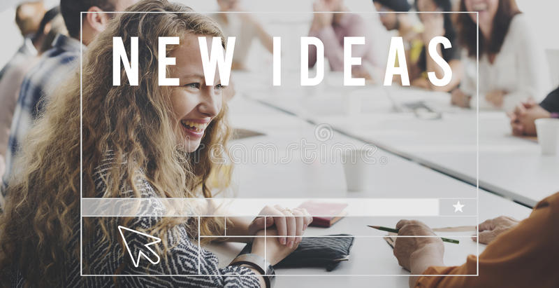 Conceito novo da imaginação da inspiração do projeto da faculdade criadora das ideias foto de stock