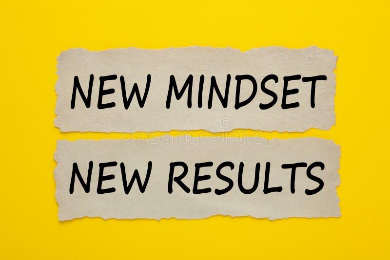 Conceito novo dos resultados do mindset novo foto de stock