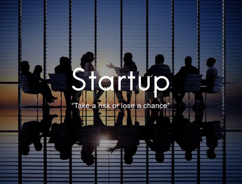 Conceito novo Startup da estratégia das aspirações do lançamento do negócio imagens de stock royalty free