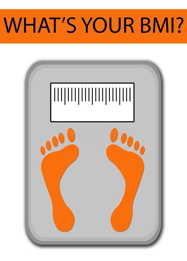 Conceito obeso da saúde de BMI ilustração royalty free