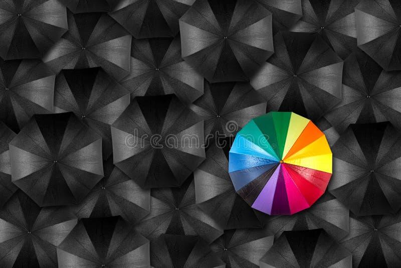 Conceito original do guarda-chuva fotografia de stock