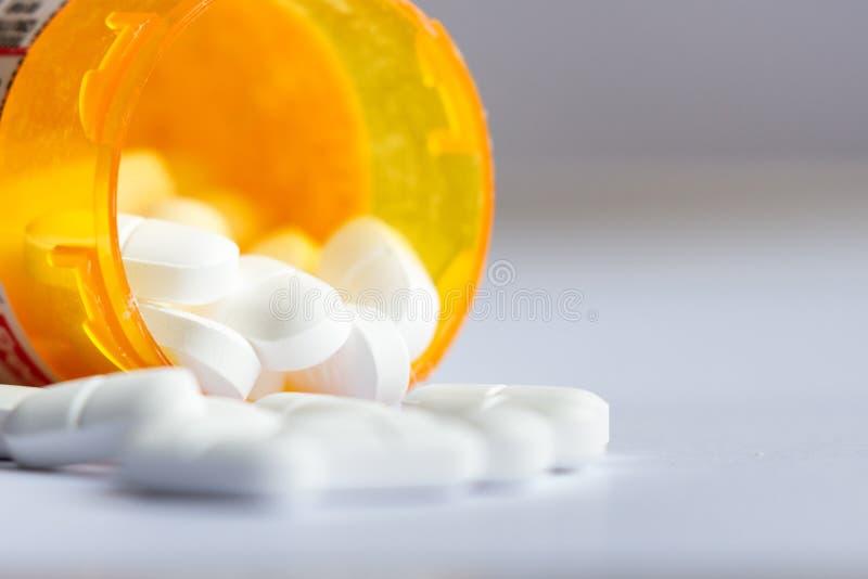 Conceito para comprimidos da prescrição imagem de stock