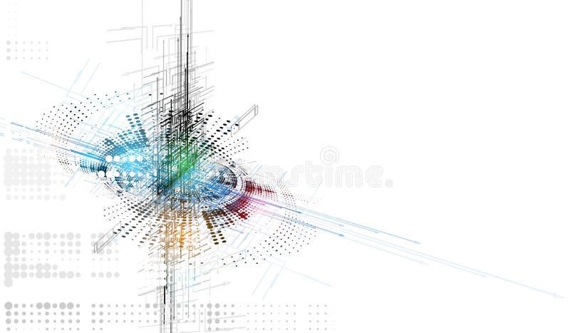 Conceito para a empresa & o desenvolvimento da nova tecnologia ilustração stock