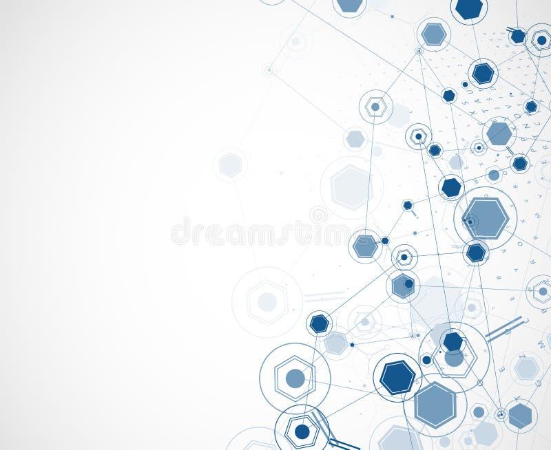 Conceito para a empresa & o desenvolvimento da nova tecnologia ilustração do vetor