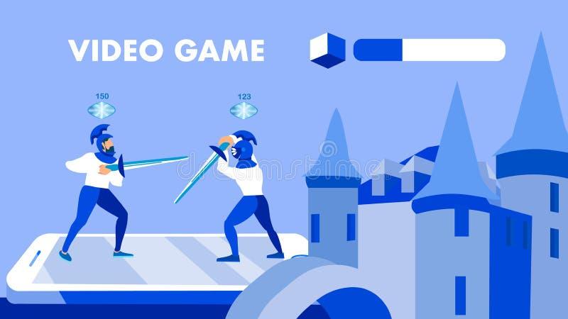 Conceito para múltiplos jogadores do vetor da bandeira da aplicação do jogo ilustração do vetor
