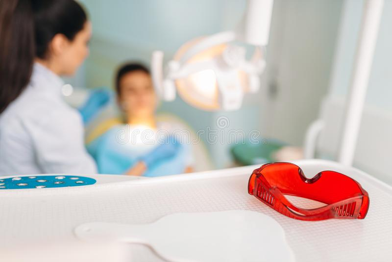 Conceito pediatra da odontologia, stomatology das crianças fotos de stock