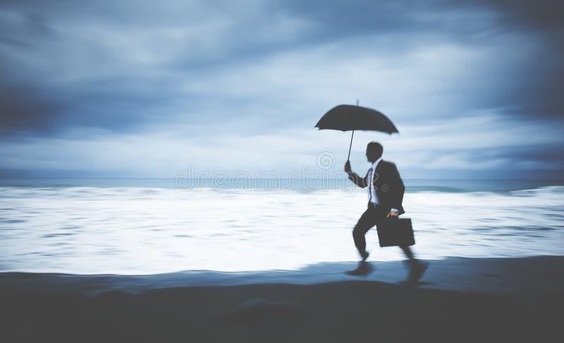 Conceito perdido preocupado de Running Stress Pressured do homem de negócios fotos de stock royalty free