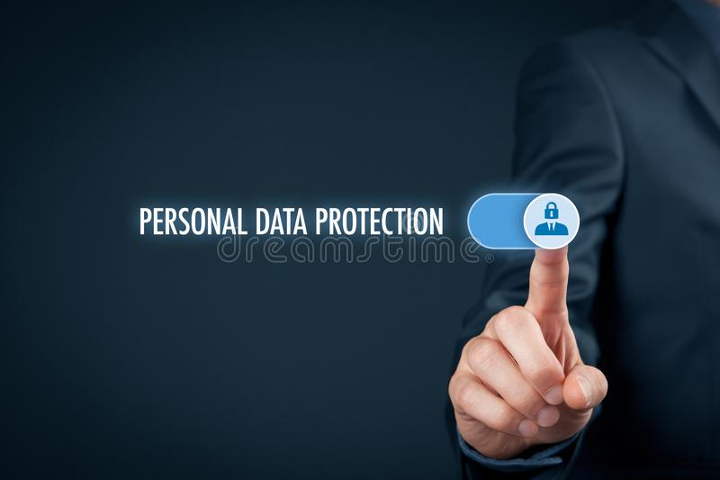 Conceito pessoal da proteção de dados foto de stock royalty free