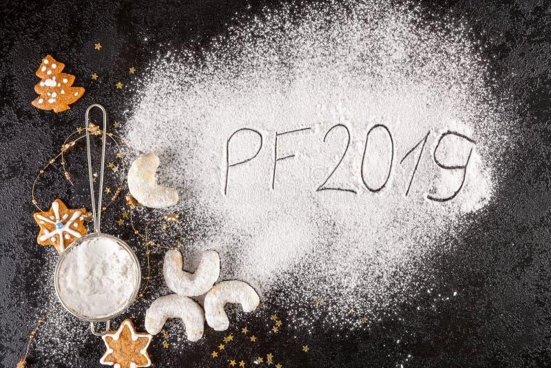 Conceito PF 2019 do Natal fotografia de stock