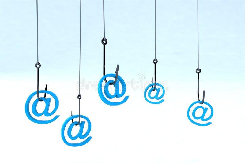 Conceito phishing da tecnologia ilustração do vetor