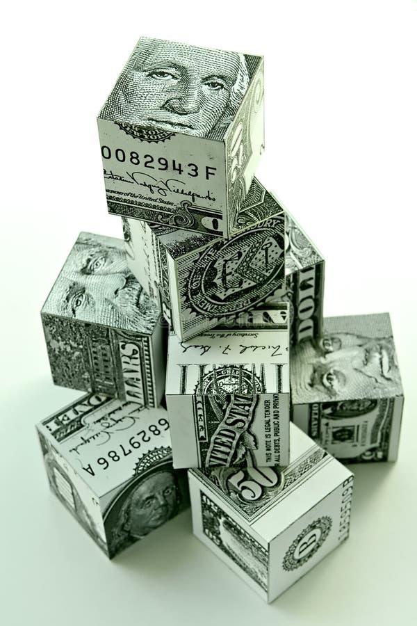 Conceito pirâmide-financeiro do dinheiro imagens de stock