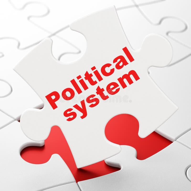 Conceito político: Sistema político no fundo do enigma ilustração do vetor