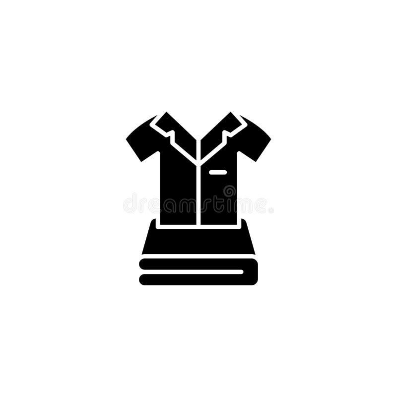 Conceito preto do ícone da roupa Símbolo liso do vetor da roupa, sinal, ilustração ilustração do vetor