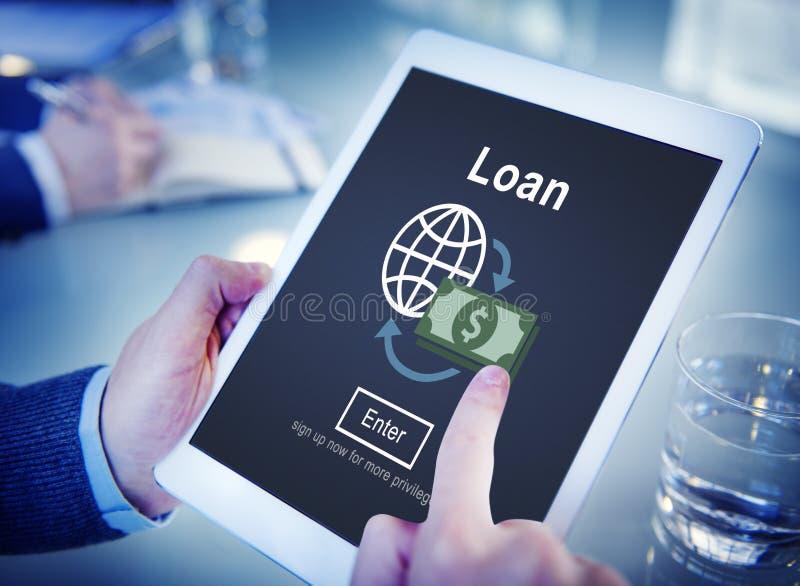Conceito principal do empréstimo do dinheiro da economia do débito da operação bancária do empréstimo fotografia de stock royalty free
