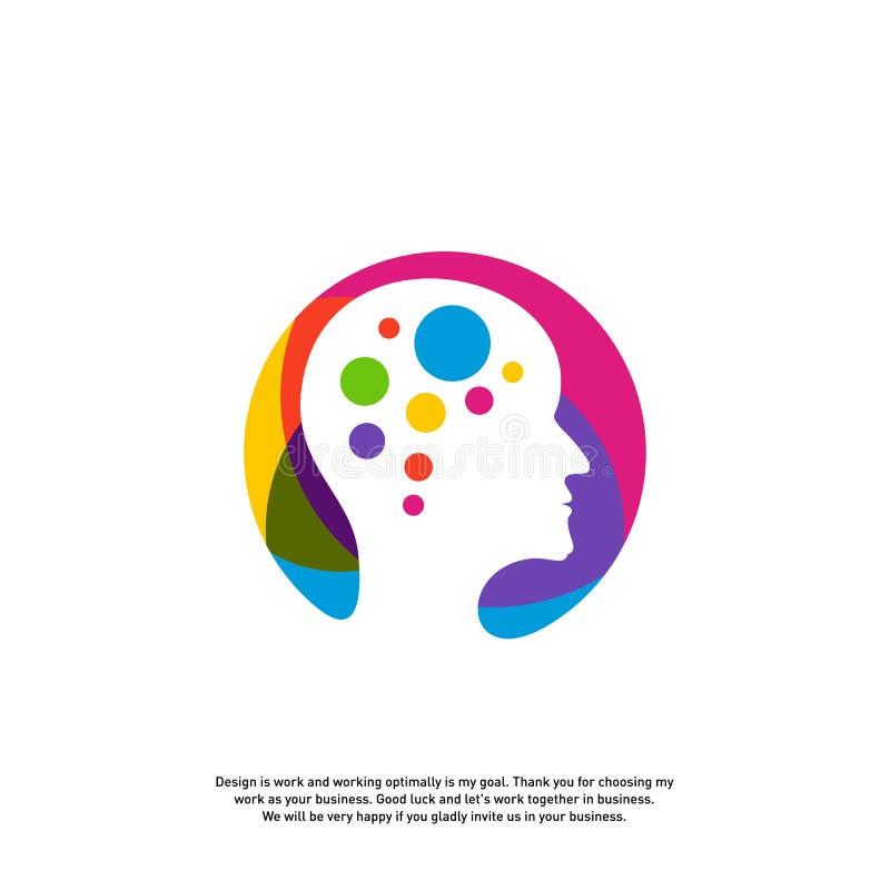 Conceito principal do logotipo da tecnologia, vetor do logotipo de Brain Robotic - vetor ilustração stock