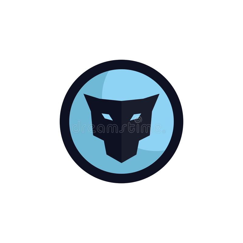 Conceito principal do logotipo do emblema do jaguar ilustração stock