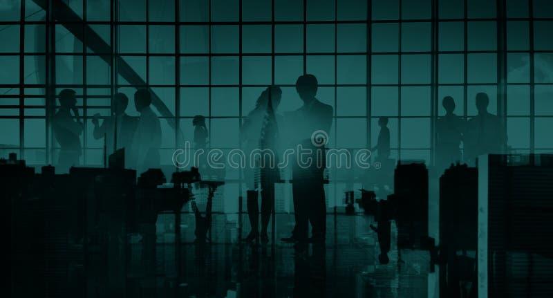 Conceito profissional da arquitetura da cidade do escritório de uma comunicação do negócio imagens de stock