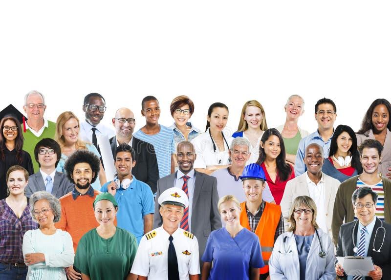 Conceito profissional da ocupação do grupo de pessoas diverso imagens de stock
