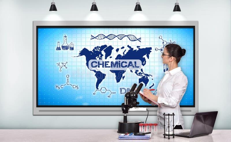Conceito químico fotografia de stock