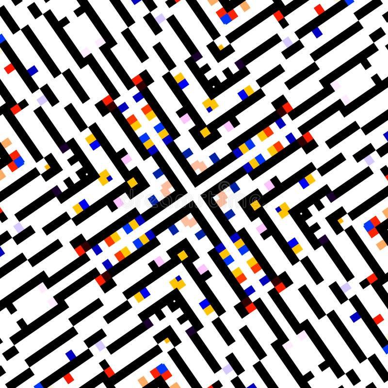 Conceito quadrado criativo Visualização ótica de tela de computador Cartaz abstrato do papel de parede do projeto do fundo Compos ilustração do vetor