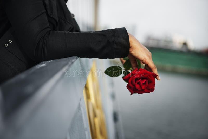 Conceito quebrado desapontado depressivo de dano da dor do amor imagem de stock