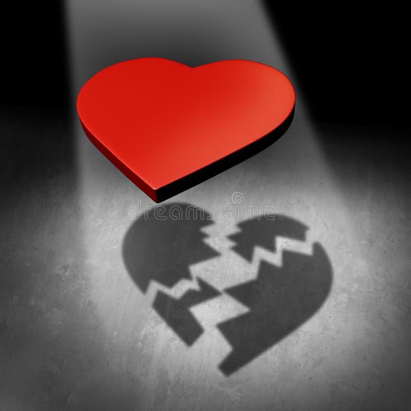 Conceito quebrado do amor ilustração stock