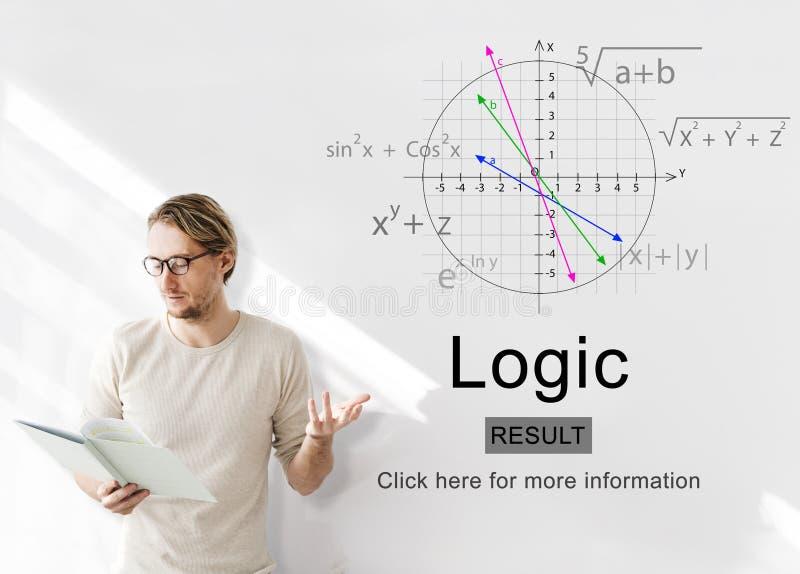 Conceito racional das ideias da solução da razão da inteligência da lógica fotos de stock