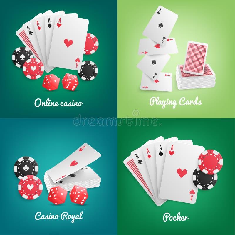Conceito realístico em linha do casino ilustração royalty free