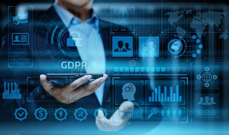 Conceito regulamentar da tecnologia do Internet do negócio da proteção de dados geral de GDPR fotografia de stock royalty free