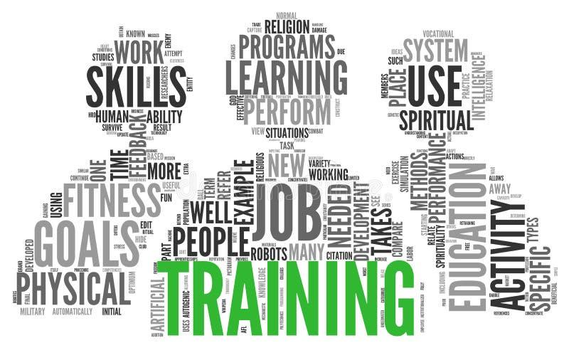 Conceito relacionado das palavras da formação e educação ilustração stock