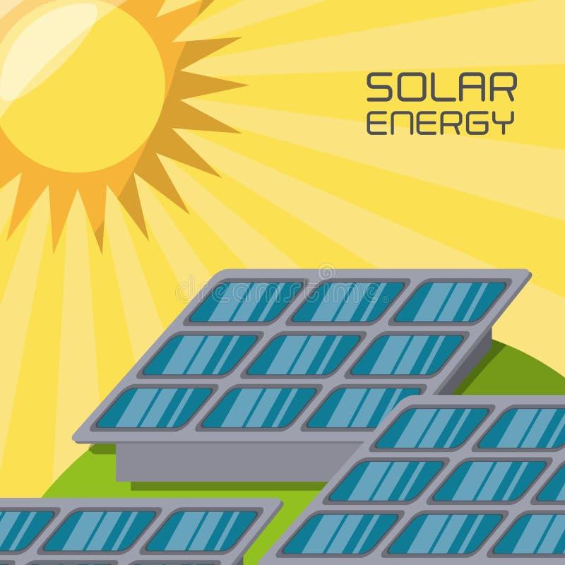 Conceito releated com energias solares ilustração royalty free