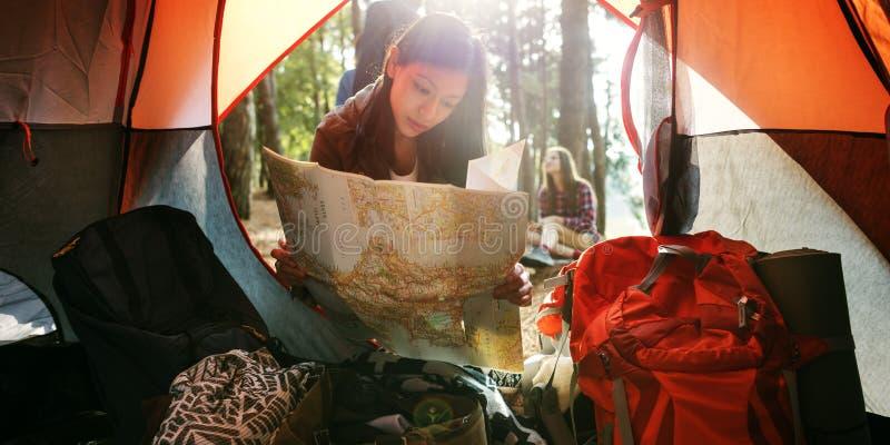 Conceito remoto da exploração da atividade da aventura de Roadtrip foto de stock royalty free
