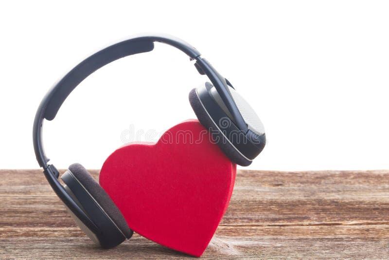 Conceito romântico da música foto de stock