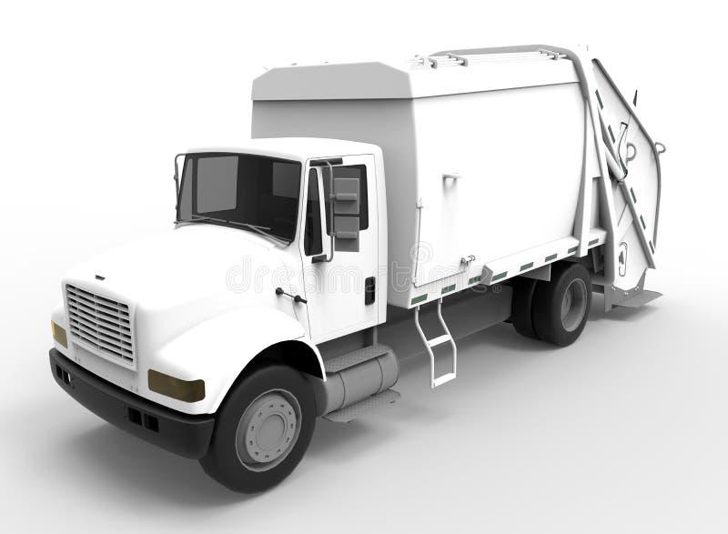 Conceito sanitário branco do caminhão ilustração royalty free