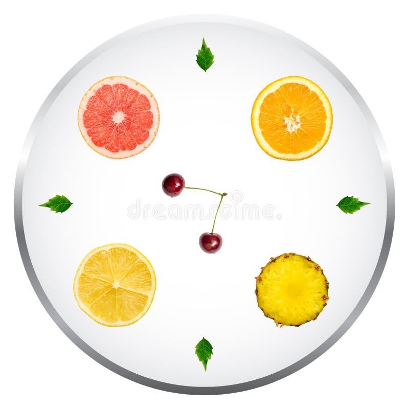 Conceito saudável da dieta dos frutos ilustração stock