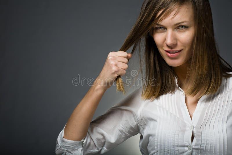 Conceito saudável do cabelo e do penteado fotos de stock