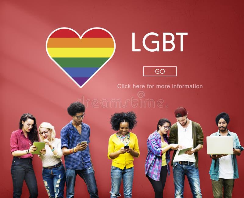 Conceito sexual da igualdade dos direitos da comunidade de LGBT foto de stock