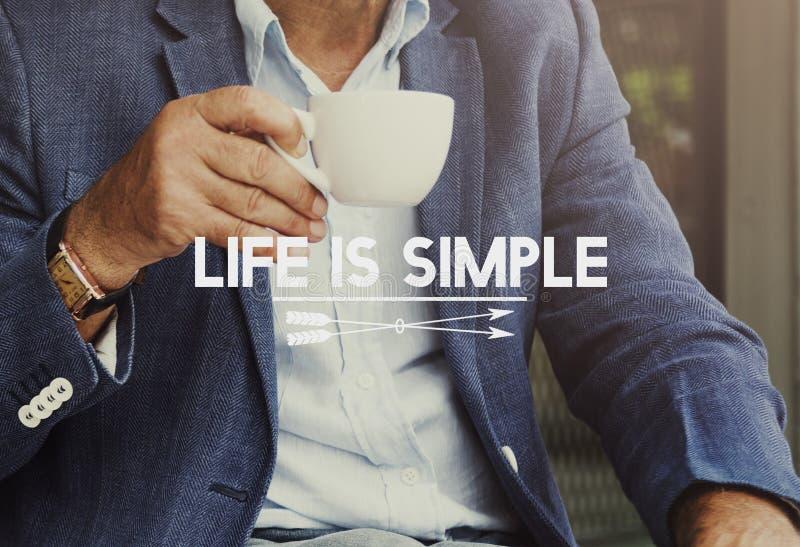 Conceito simples da manhã do café da vida foto de stock