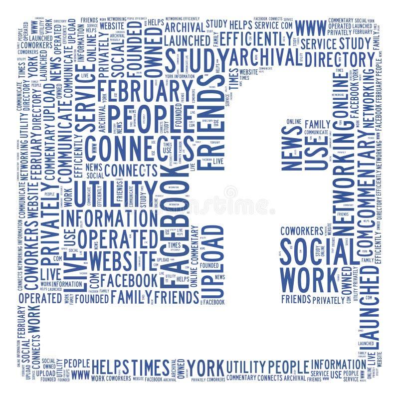 Conceito social da rede ilustração royalty free