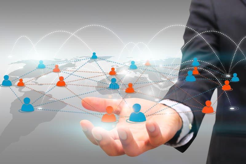 Conceito social da rede ilustração do vetor