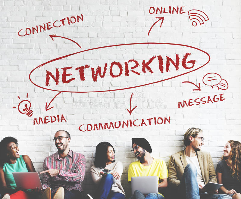 Conceito social da rede da conexão de Media Communication foto de stock royalty free